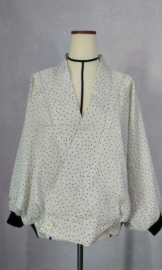 White Dot Kimono Outer