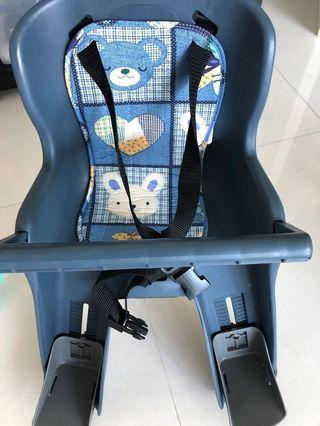 Child seat for bicycle with bracket
