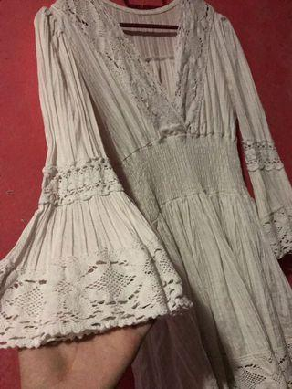 Lacey White Blouse/Dress