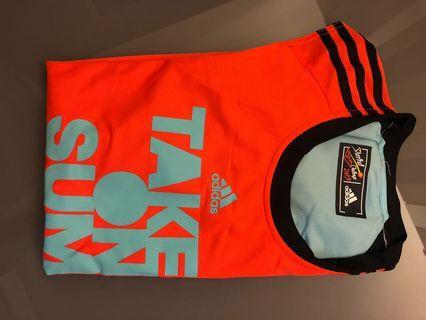 Adidas 3人賽波衫+褲