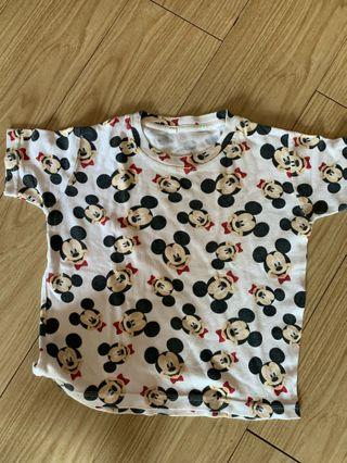 Kaos mickey mouse 3-4y
