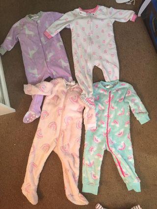 12-18 bundle sleepsuits