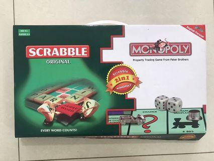 Scrabble and Monopoly, 2 in 1