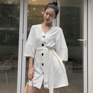 Korean Buttoned Dress