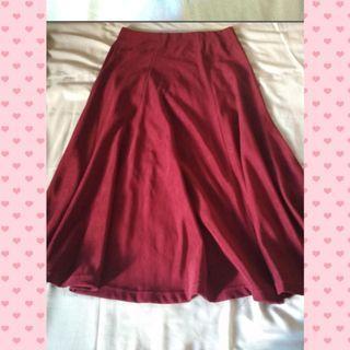 Maroon midi Skirt