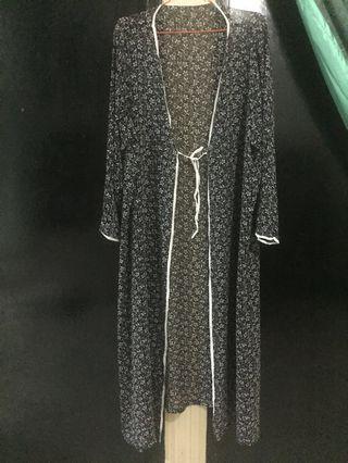 Outerwear abaya panjang freesize sampai 3xl