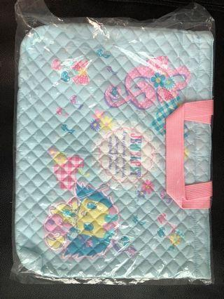 Jewel pet 布料功課袋可放A4 file