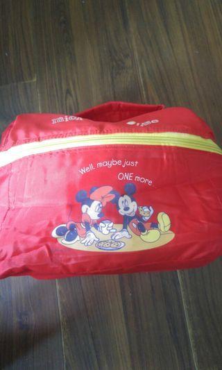 🚚 九成新 輕盈Mickey mouse野餐袋