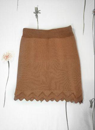 Brown Bodycon Skirt