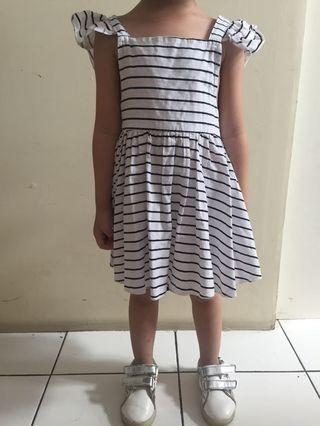 Stripe dress anak