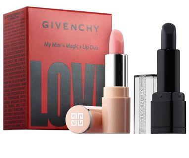 (pre-order) 美國代購Givenchy Mini Magic Lip Duo Set (limited edition) COLOR: Perfect Pink/ Noir Révélateur - natural sheer pink/ sheer to deep berry