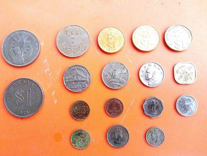 Old mixed country coins