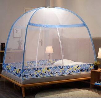 蒙古包彈開式免安裝蚊帳