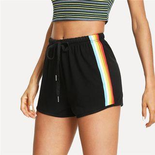 Sweaty Colourful Black Shorts