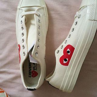 INSTOCK Converse x CDG White Low Cut Sneakers