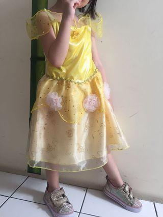 Belle dress anak