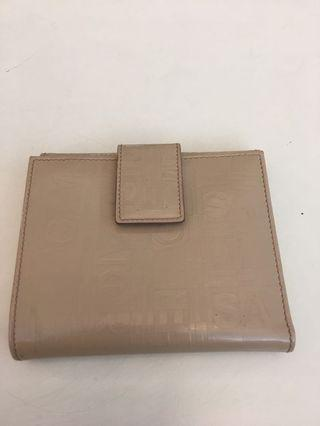 Salvatore Ferragamo beige leather wallet ( 12 pocket )
