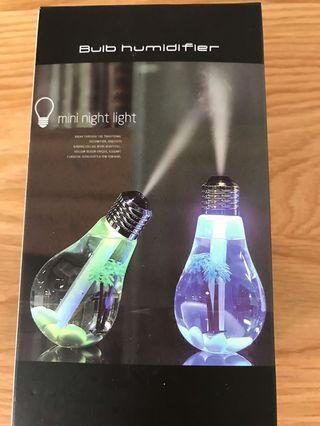 變色燈泡造型usb加濕器