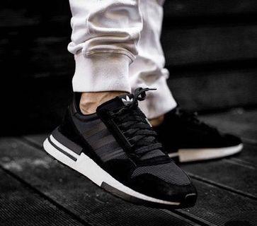 🚚 Adidas ZX500 RM Black White Sneaker