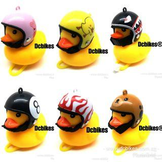 🆕! Cute Rubber Duck With Manual Bell + Safety Led MTB Bicycle Stroller Handlebar Display Light #Dcbikes                                                                            ✳️ Variant: Shark/Bear/Eight/Flame/Pig/Chick ✳️