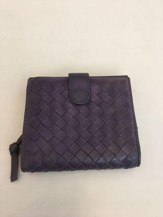 Bottega Veneta purple leather wallet ( 10 pocket )