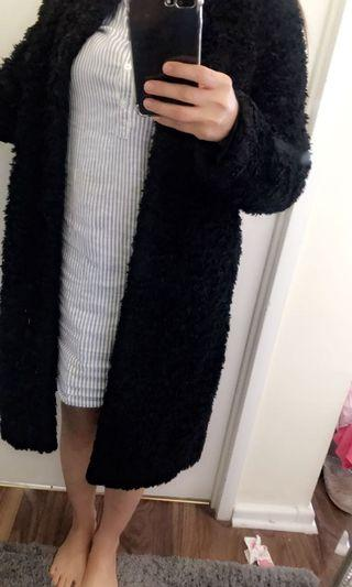 Fur coat from H&M size small