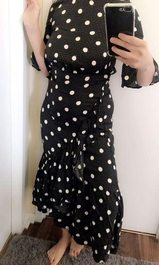 H&m polka dot dress xs