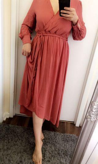Orange dress size small