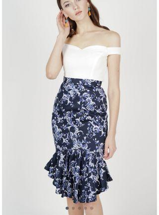 🚚 BN MDS Donella Mermaid Skirt in Midnight Floral