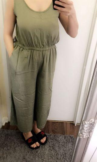 Olive green jump suit size small