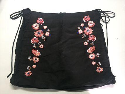 Korean Style Skirt with Floral Design