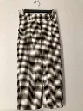 Cue gingham pencil skirt