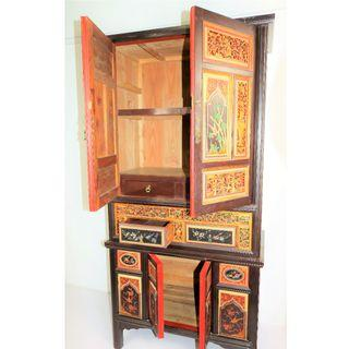 Antique Carved Storage Cabinet