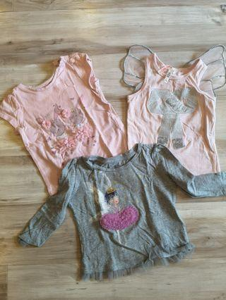 3 pieces - girls top (Toddler size)