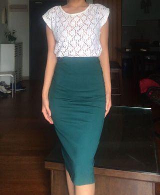 Kitschen Classic Green Skirt