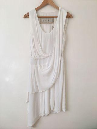 Bnwt Frey white dress size 8