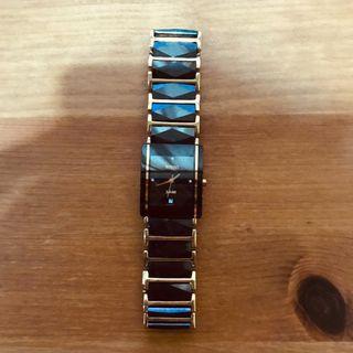 Rado (Jubile)- black/gold- anti scratch- authentic- men's watch