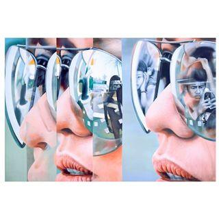 """Mirror Effect"" by Agus Cahaya Acrylic Oil Painting on Canvas"
