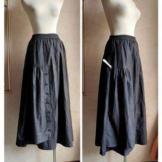 🚚 FANG設計師灰色長裙落地裙