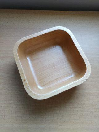 Solid wooden bowl