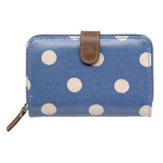 Cath Kidston Folded Zip Wallet - Periwinkle Button Spot (BSO)