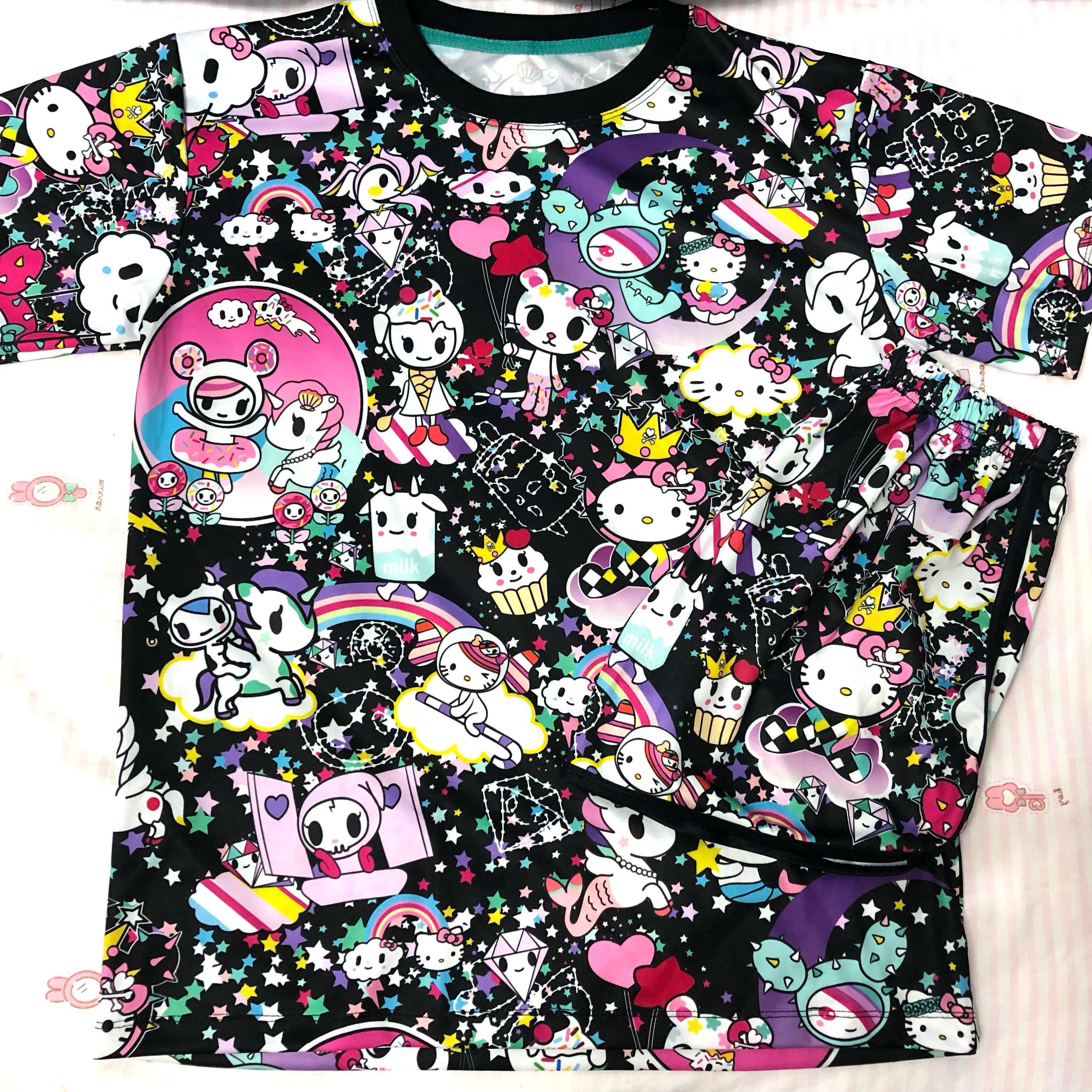 $11* Brand New Tokidoki x Hello Kitty Sleepwear Set Adult Small Size M