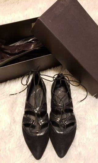 Brian Atwood BLACK Suede Flats