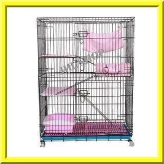 "[READY STOCK] Three Layer Cat Cage Large Iron 36"" L x 24"" W x 52""H"