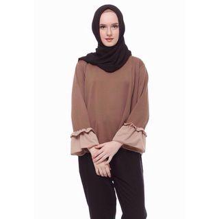 Brown Top (two tone lucy top)