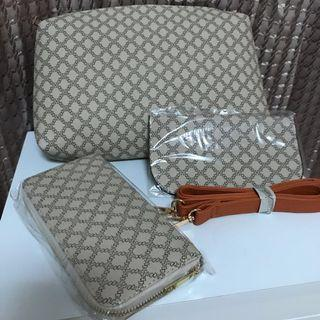 🚚 包包三件組(包包、皮夾、卡片夾)買到賺到、可議價