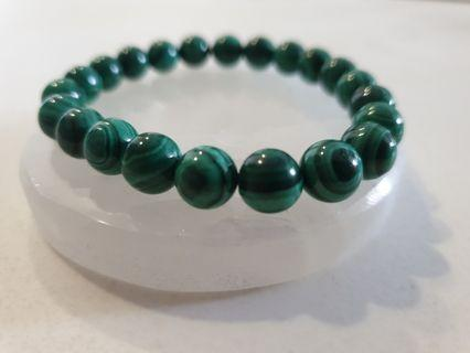🚚 Malachite cat eye bracelet 8.8mm