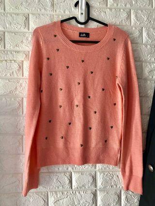 購自澳洲粉橙色冷衫