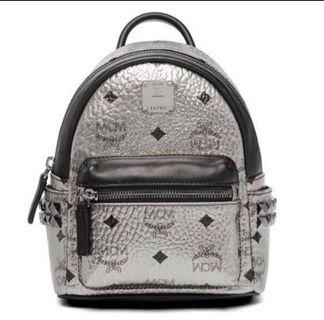 🚚 MCM X-Mini Starks Side Odeon Studs Backpack (Silver)