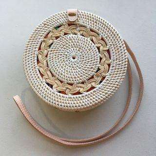 Bali Rattan Sling bag (cream braid)